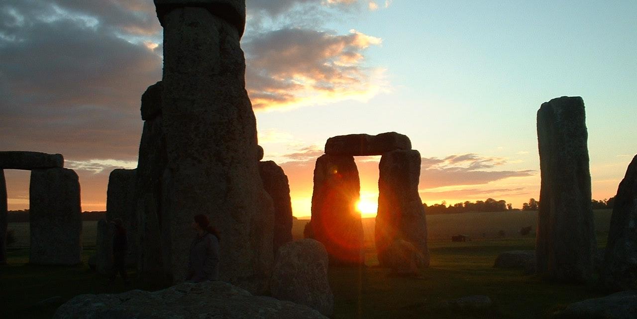 Coucher de soleil à Stonehenge